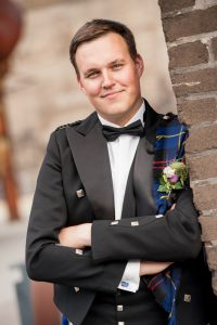 Dudelsackspieler Björn Frauendienst im Prince Charlie Outfit