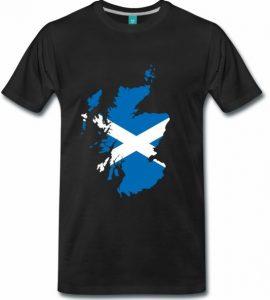Karte Schottland mit schottischer Flagge